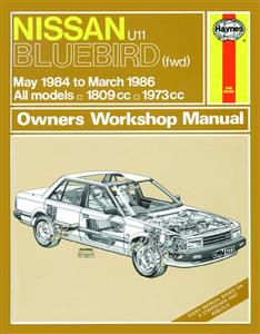 Nissan Bluebird FWD 1984-86 1.8 & 2.0 (NZ 1984-88) Repair Manual