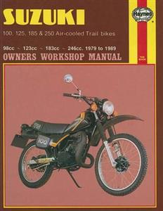 Suzuki 100 125 185 & 250 Aircooled Trail Bikes 1979-89 Repair Manual