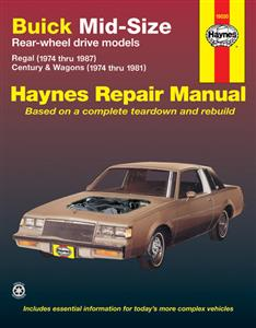 Buick Mid Size RWD 1974-87 Repair Manual