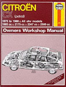 Citroen CX Petrol 1975-1988 Repair Manual Incl Turbo