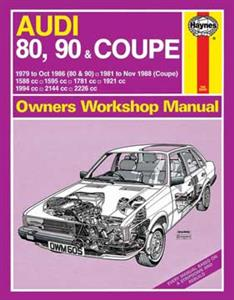 Audi 80 90 & Coupe 1979-88 Repair Manual Not Quattro OUT OF PRINT