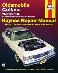 Oldsmobile Cutlass 1974-88 Repair Manual Petrol Repair Manual