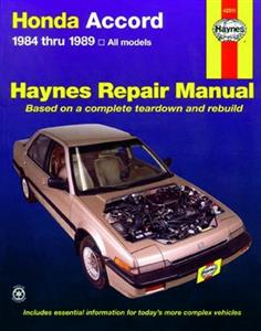Honda Accord 1984-89 Repair Manual 1.8 & 2.0 SOHC