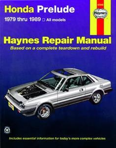 Honda Prelude 1979-89 Repair Manual 1.8 2.0
