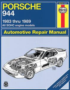 Porsche 944 1983-89 Repair Manual Incl Turbo