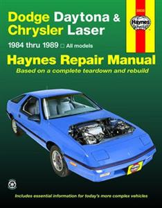 Dodge Daytona & Chrysler Laser 1984-89 Repair Manual