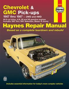 Chevrolet & GMC Pickups 1967-91 Petrol Repair Manual Incl Suburban Blazer & Jimmy 1967-1991