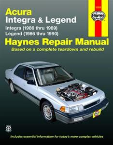 Acura Integra 1986-89 & Legend 1986-90 Repair Manual (NZ Honda)