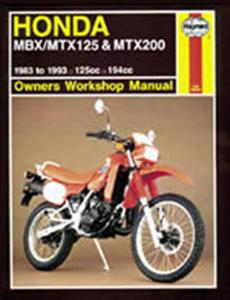 Honda MBX/MTX125 & MTX200 1983-1993 Repair Manual