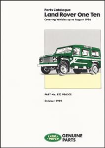 Land Rover 110 Up To August 1986 Parts Catalogue