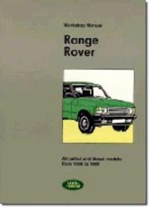 Range Rover 1986-89 Factory Workshop Manual Petrol & Diesel