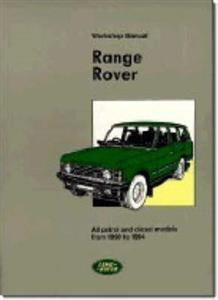Range Rover 1990-94 Factory Workshop Manual Petrol & Diesel