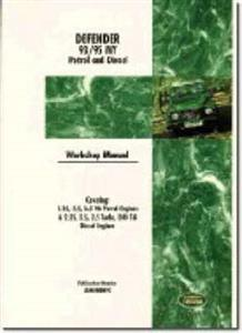 Land Rover Defender 1993-95 Factory Workshop Manual 2.25 2.5 3.5 Petrol 2.25 2.5 2.5 Turbo 200 Tdi Diesel