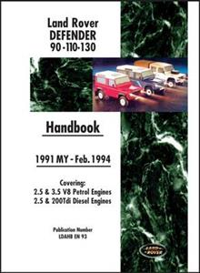 Land Rover Defender 90 110 130 1991-94 Owners Handbook