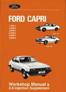 Ford Capri Official Workshop Manual 1974-87 Incl 2.8 Supplement