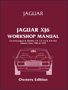Jaguar XJ6 (XJ40) 1986-1994 Owners Workshop Manual