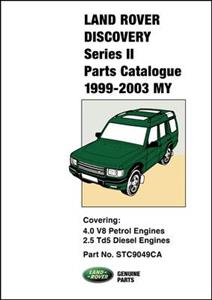 Land Rover Discovery Series II 1999-2003 Parts Catalogue Petrol & Diesel