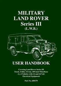 Military Land Rover Series 3 LWB User Handbook
