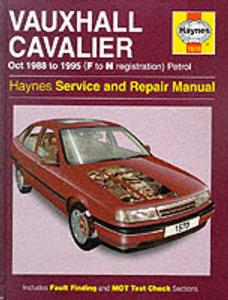 Vauxhall Cavalier 1988-95 Repair Manual Petrol (NZ Holden/Opel Vectra)