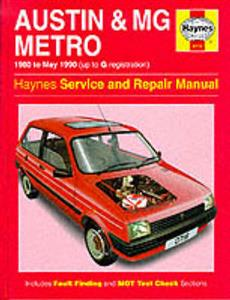 Austin Metro 1980-90 inc MG Repair Manual