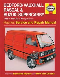 Bedford/Vauxhall Rascal and Suzuki Supercarry 1986-94 Repair Manual