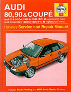Audi 80 90 & Coupe 1986-90 Repair Manual 4 & 5 Cylinder Petrol Not Quattro