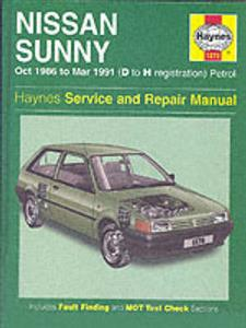 Nissan Sunny 1986-91 (NZ Sentra) Repair Manual 1.3 1.4 1.6 & 1.8 Petrol