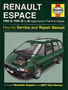 Renault Espace 1985-96 Repair Manual 4 Cylinder Petrol & Diesel NOT 4WD