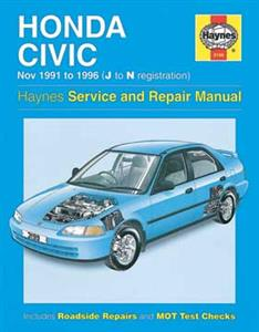 Honda Civic 1991-96 Repair Manual SOHC only