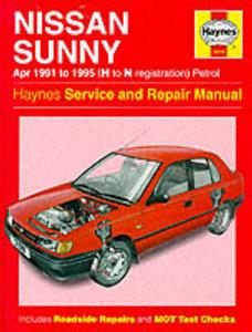 Nissan Sunny 1991-95 (NZ Sentra/import Pulsar) Repair Manual 1.4 1.6 Petrol
