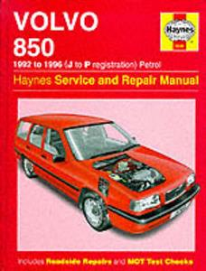 Volvo 850 1992-96 Repair Manual 4 & 5 Cylinder Includes T5