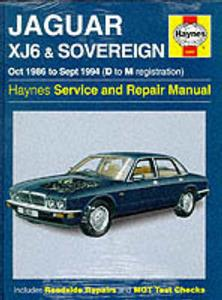 Jaguar XJ6 1986-94 Repair Manual (XJ40 shape) 3.2 3.6 & 4.0