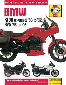 BMW K100 & K75 2 Valve 1983-96 Repair Manual