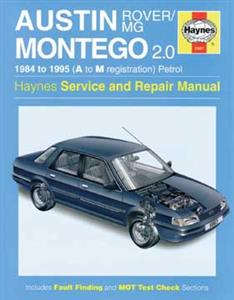 Austin & MG Montego 2.0 Petrol 1984-95 Repair Manual