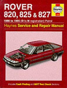 Rover 820 825 827 1986-95 Repair Manual Petrol