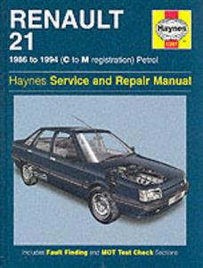 Renault 21 1986-94 Repair Manual Petrol Front Wheel Drive