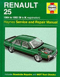 Renault 25 1984-92 Repair Manual Petrol & Diesel