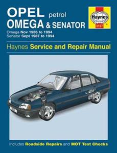 Opel Omega And Senator 1986-94 Repair Manual Petrol