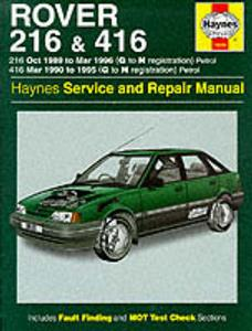 Rover 216 & 416 1989-96 Repair Manual Petrol