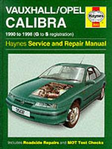 Vauxhall/Opel Calibra 1990-98 Repair Manual (NZ Holden Calibra) 4 Cylinder