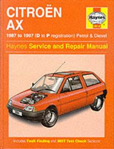 Citroen AX 1987-97 Repair Manual Petrol & Diesel