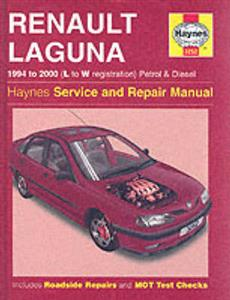 Renault Laguna 1994-2000 Repair Manual Petrol & Diesel Not 2.0VVT 3.0 V6 or dCi Diesel