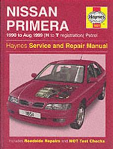 Nissan Primera 1990-99 Repair Manual P10 & P11 1.6 & 2.0 Petrol (covers up to 2001 in NZ)