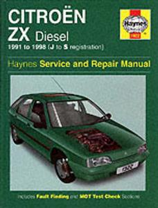 Citroen ZX Diesel 1991-98 Repair Manual
