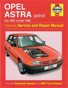 Opel Astra 1991-98 (NZ Holden Astra 1994on) Repair Manual Petrol