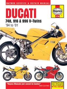 Ducati 748 916 And 996 4 Valve V-Twins 1994-01 Repair Manual