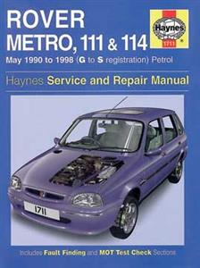 Rover Metro 111 & 114 1990-98 Repair Manual Petrol