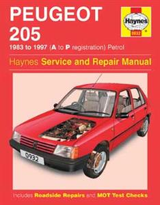 Peugeot 205 1983-97 Repair Manual Petrol