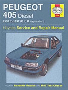 Peugeot 405 1988-96 Repair Manual Diesel