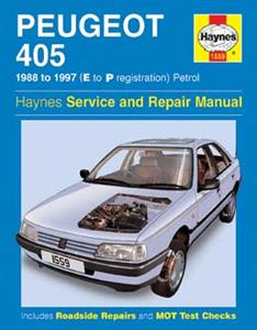 Peugeot 405 1988-97 Repair Manual Petrol